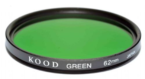 Kood High Quality Optical Glass Green Filter Made in Japan 62mm